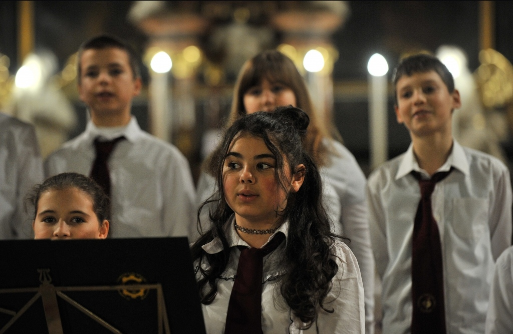 Nagytemplomi Karácsonyi Koncert az iskolai kórusok előadásában.